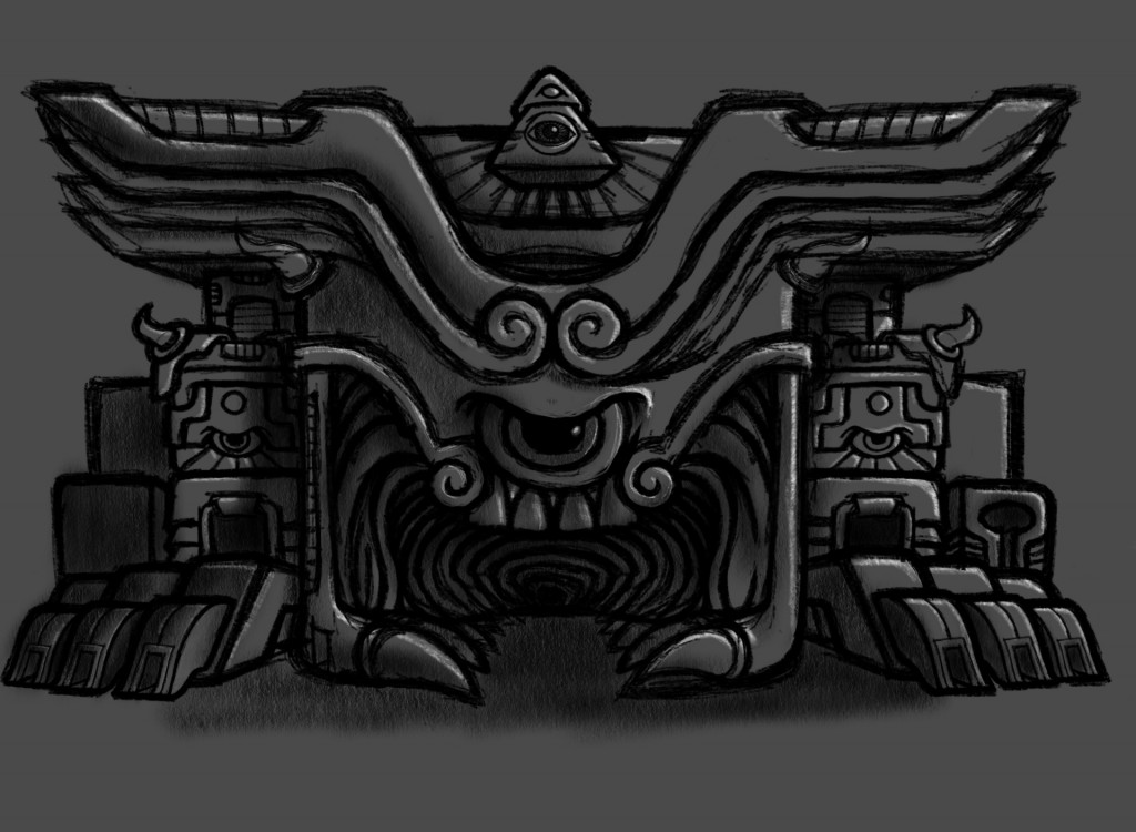 Psychedelic Monster Anger Temple Sketch Coghill