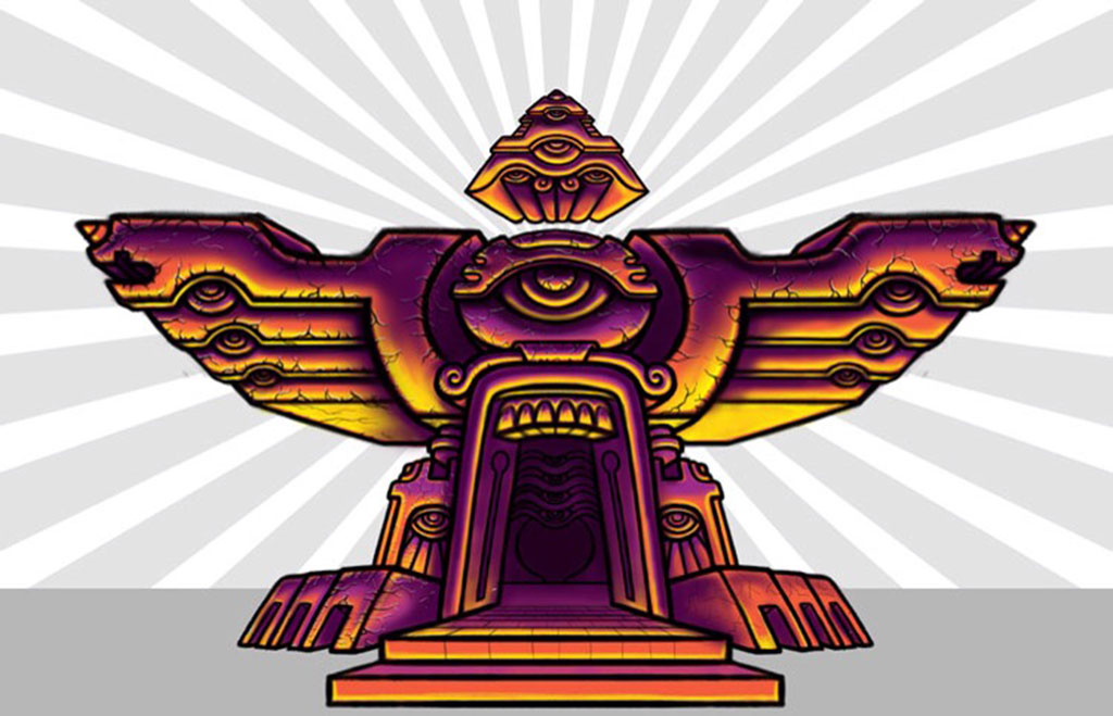 Flight Temple psychedelic artwork.