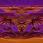 Winged pyramid psychedelic meditator visionary art painting.