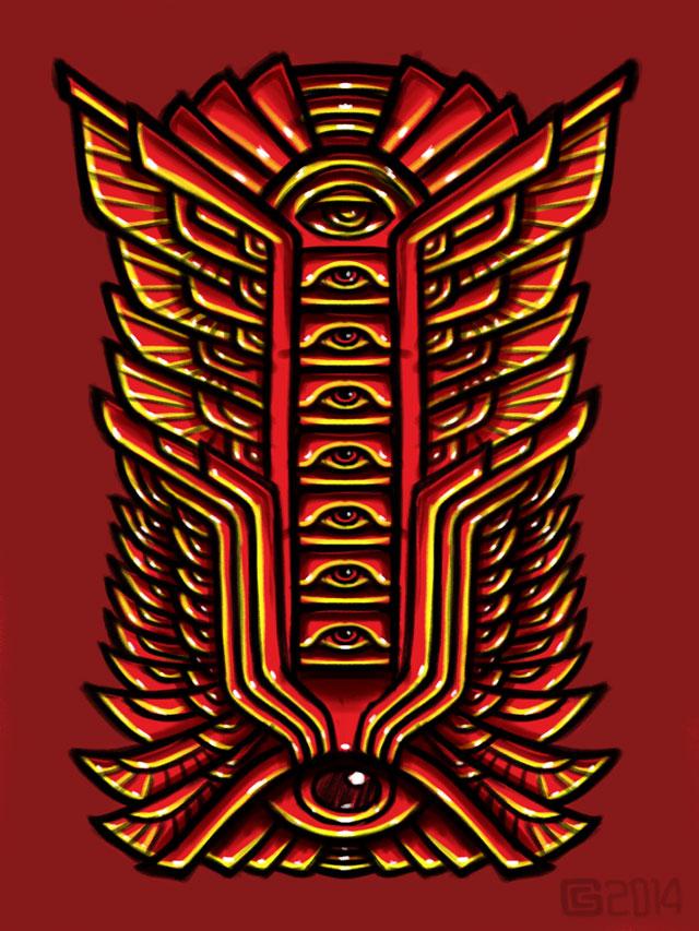 Psychedelic Mandala Sketch Coghill