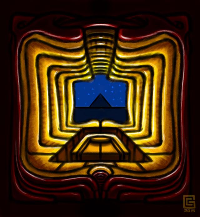 Mystic Eye Temple Sacral Entrance 2 Sketch