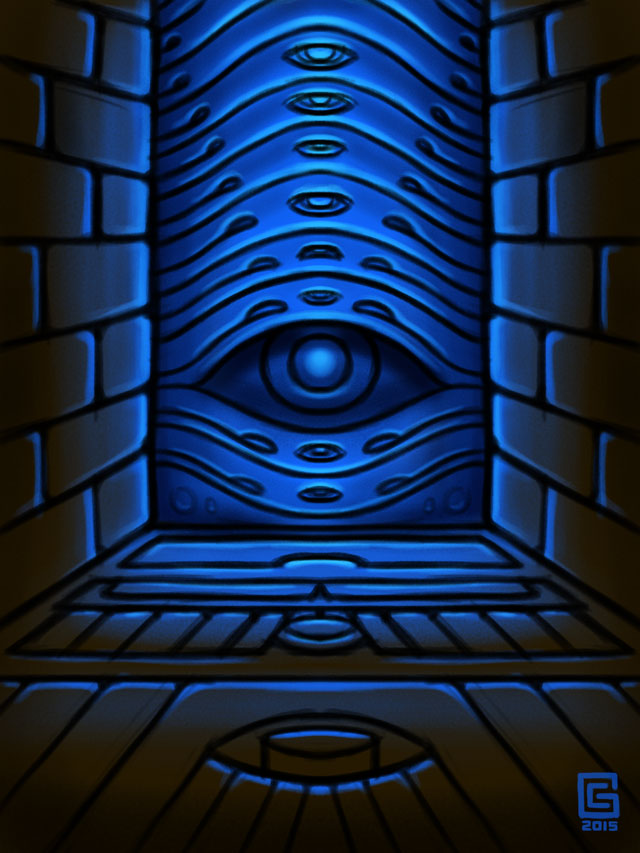Mystic Eye Design Sketch 14: Temple Portal