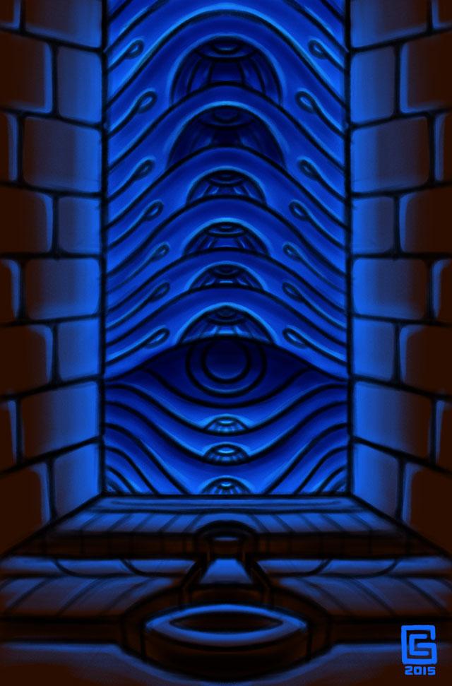 Mystic Eye Design Sketch 15: Temple Portal 2