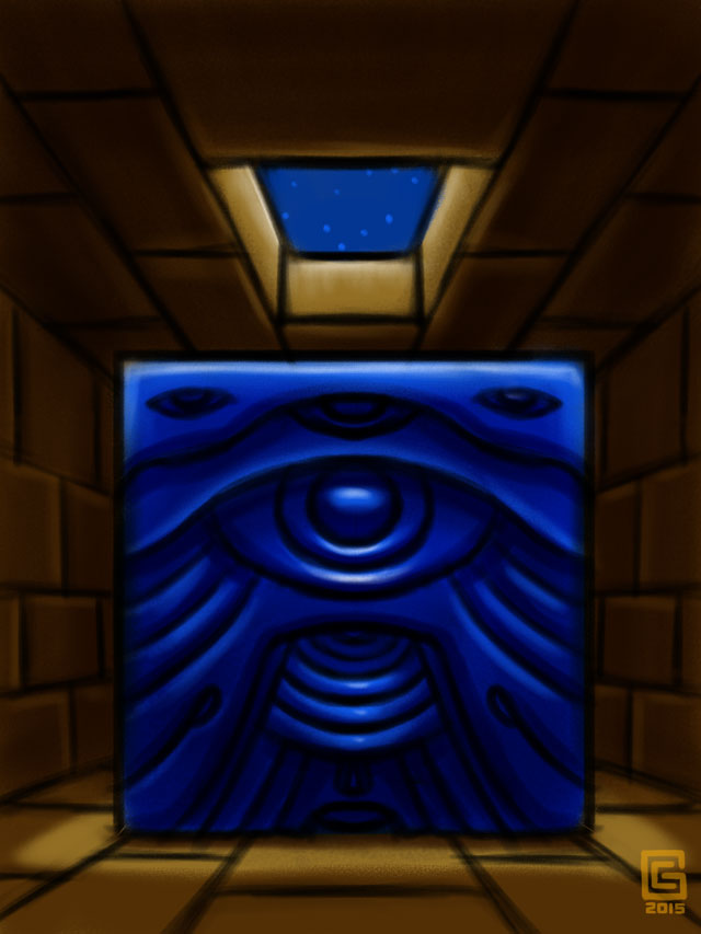 Mystic Eye Temple: Astronomer's Chamber sketch Coghill