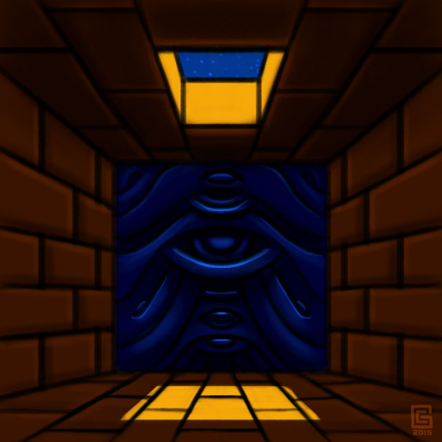 Mystic Eye Temple False Entrance Sketch