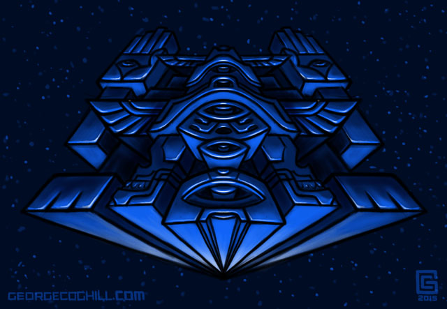 Cosmic Totem 01 Sketch Coghill