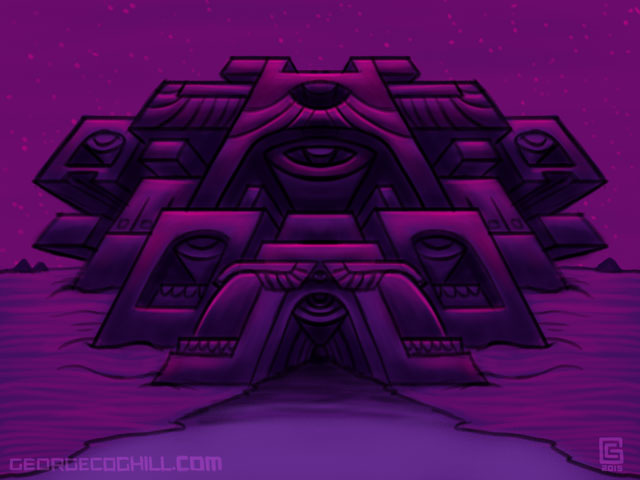 Far Fortress Crab Nebula Sketch Coghill