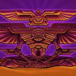 Winged pyramid psychedelic meditator visionary art painting.